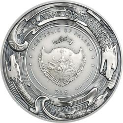 SCYLLA AND CHARYBDIS 20 DOLLARS PALAU 2020 3 OZ SILVER COIN