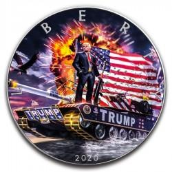 TRUMP TANK EXPLOSION AMERICAN SILVER EAGLE 1 Oz 2020 1 DOLLAR