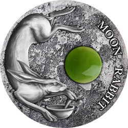MOON RABBIT JADE 50 g NIUE 2 DOLLARS 2021 SILVER COIN