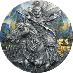 ZHANG FEI WARRIORS OF ANCIENT CHINA 5 DOLLARS 3 OZ NIUE 2020