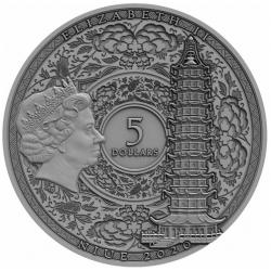 ZHENG HE FAMOUS EXPLORERS 5 DOLLARS NIUE 2020 SILVER COIN 2 OZ PORCELAIN