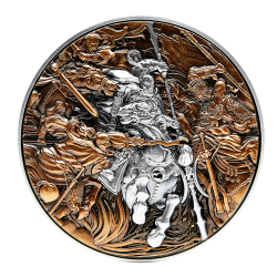 LU BU IN THE BATTLE AGAINST THREE HEROES 2 OZ 2021 REPUBLIQUE DU TCHAD