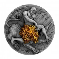 TWELVE LABOURS OF HERCULES NEMEAN LION NIUE 2018 2 OZ 5 DOLLARS
