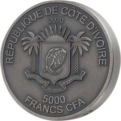 WATER BUFALLO 5 OZ 2020 REPUBLIQUE DE COTE D'IVOIRE 5000 FRANCS