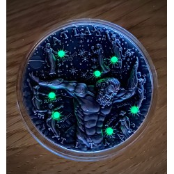 ATLAS TYTANI GLOW IN THE DARK 2 OZ 2 DOLARY SREBRNA MONETA NIUE 2020
