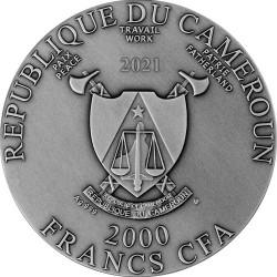 JESUS CHRIST SAVIOR CAMEROON 2021 2 OZ 2000 FRANCS CFA