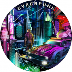 CYBERPUNK THE PUNK UNIVERSE 2 OZ NIUE 2021 5 DOLLARS SILVER COIN