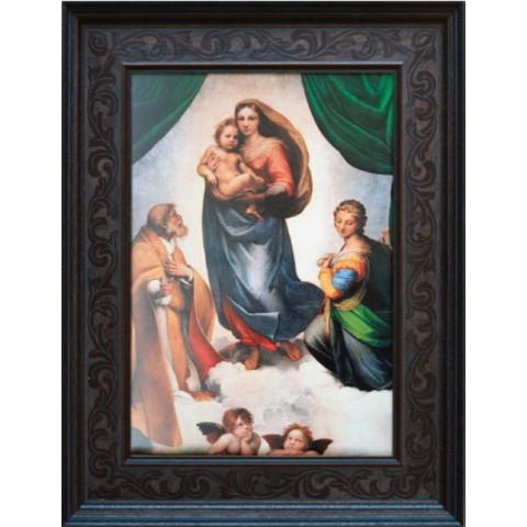 SISTINE MADONNA MASTERS OF ART 1,5 KG SILVER COIN 150 DOLLARS SOLOMON ISLANDS 2020