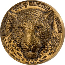 BIG FIVE DE GREEF EDITION LEOPARD 1 OZ GOLD COIN IVORY COAST 2021