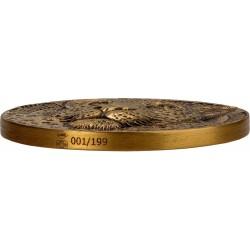 BIG FIVE DE GREEF EDITION LEOPARD 1 OZ GOLD COIN IVORY COAST 2021