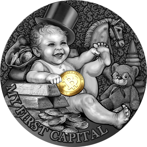 MY FIRST CAPITAL MY FIRST TREASURES 2021 NIUE 1/2 OZ SILVER COIN 1 DOLLAR