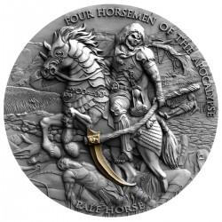 PALE HORSE FOUR HORSEMEN OF THE APOCALYPSE NIUE 2021 2 OZ 5 DOLLARS