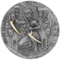 SEKHMET GODS OF ANGER 2 OZ 2 DOLLARS NIUE 2021