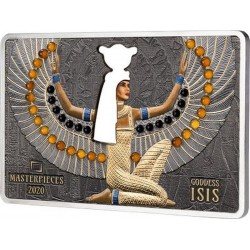 GODDESS ISIS MASTERPIECES 200 G SILVER 10 G GOLD 40 DOLLARS 5 DOLLARS SOLOMON ISLANDS 2020