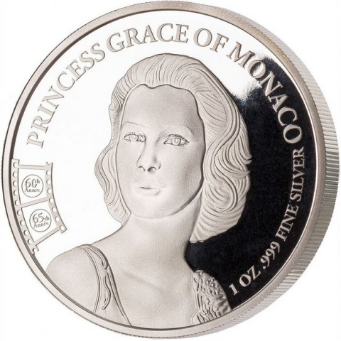 GRACE KELLY PRINCESS GRACE OF MONACO 1 OZ 1000 FRANCS CAMEROON 2020