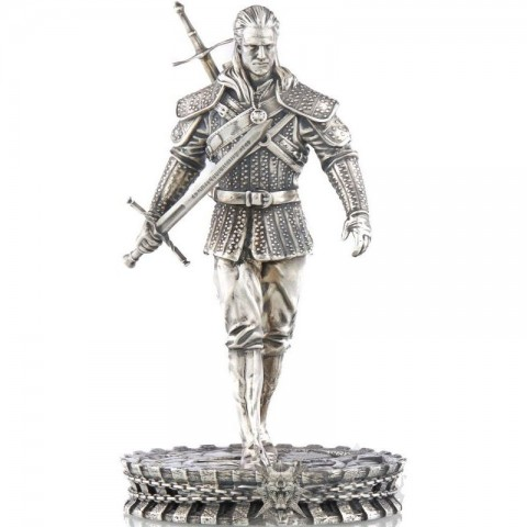 GERALT OF RIVIA WHITE WOLF THE WITCHER 5 OZ 10 DOLLARS NIUE 2021
