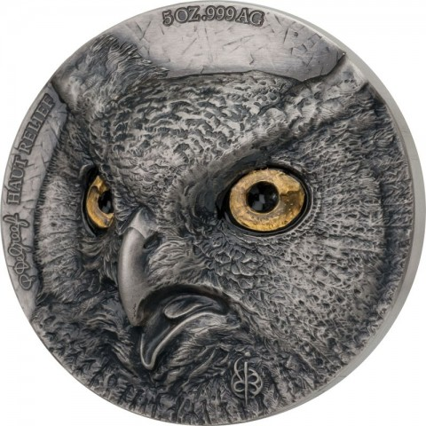 OWL EDITION SIGNATURE 2 X 5 OZ SILVER COIN 5000 FRANCS IVORY COAST 2021