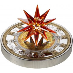CRYSTAL GIANT MORAVIAN STAR ST.PETERSBURG RUSSIA 100 DOLLARS 1 KG