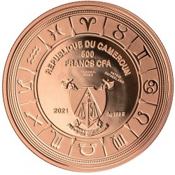 CANCER ZODIAC SIGN 10 G 500 CFA FRANCS CAMEROON 2021
