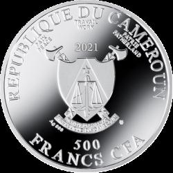 PORTRAIT OF FRIEDERIKE-MARIA BEER GUSTAV KLIMT 17,5 G 500 CFA FRANCS CAMEROON 2021