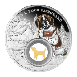 SAINT BERNARD MAN'S BEST FRIENDs - DOGS 28,28 G 1000 CFA FRANCS CAMEROON 2021