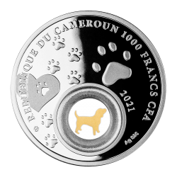 SAINT BERNARD MAN'S BEST FRIENDs - DOGS 28,28 G 1000 CFA FRANCS CAMEROON 2021