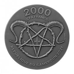 BELZEBUB KING OF THE UNDERWORLD 2 OZ 2000 CFA FRANCS CAMEROON 2021