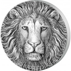 LION BIG FIVE MAUQUOY SILVER COIN 1 KG IVORY COAST 2017