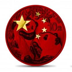 PANDA CHINESE FLAG 30 G 10 YUAN CHINA 2021