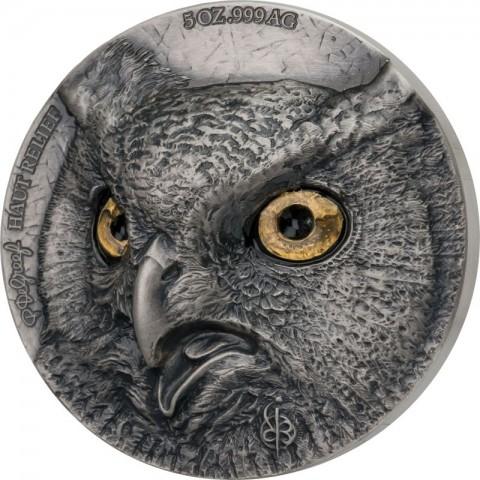 OWL EDITION SIGNATURE 2 X 5 OZ SILVER COIN 5000 FRANCS IVORY COAST 2021