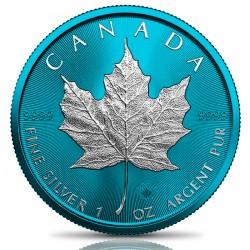 SPACE BLUE MAPLE LEAF 1 OZ 5 DOLLARS CANADA 2021