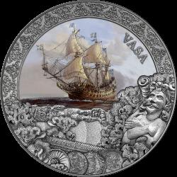 VASA GRAND Grand SHIPWRECKS IN A HISTORY 2 OZ 5 DOLLARS NIUE 2021