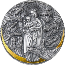 THE LADY AND THE DRAGON APOCALYPSE 3 OZ 3000 FRANCS CAMEROON 2021