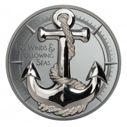 ANCHOR FAIR WINDS SILVER COIN 10 DOLLARS 2 OZ COOK ISLANDS 2019