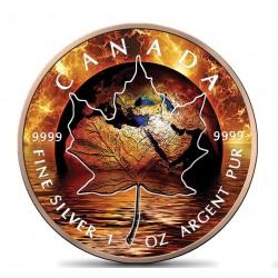 MAPLE LEAF GLOBAL WARMING 1 OZ 5 DOLLARS CANADA 2021