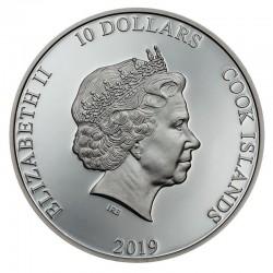 ANCHOR FAIR WINDS SILVER COIN 10 DOLLARS 2 OZ COOK ISLANDS 2019