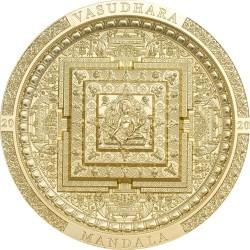 VASUDHARA ARCHEOLOGY AND SYMBOLISM SERIES GOLD PLATED 2000 TOGROG 3 OZ MONGOLIA 2020