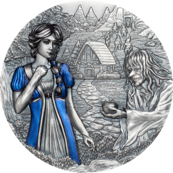 SNOW WHITE FAIRY TALES & FABLES 20 DOLLARS 3 OZ COOK ISLANDS 2021