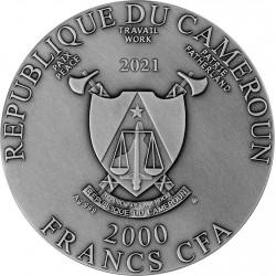 HIPPOCAMPUS 2 OZ 2000 FRANCS CAMEROON 2021