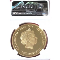 Red back Spider Niue 2018 1 Oz Gold 100$ NGC PF 70 Ultra Cameo