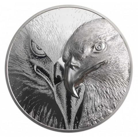 MAJESTIC EAGLE 1KG SILVER COIN 20000 TOGROG MONGOLIA 2021