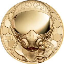 FIGHTER PILOT REAL HEROES 1 OZ GOLD 250 DOLLARS COOK ISLANDS 2020