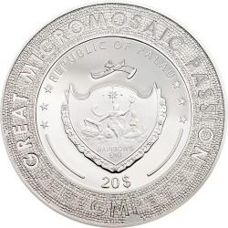 GREAT MICROMOSAIC PASSION - YOUNG GIRL IN GREEN TAMARA LEMPICKA PALAU 2021 3 OZ 20 DOLLARS