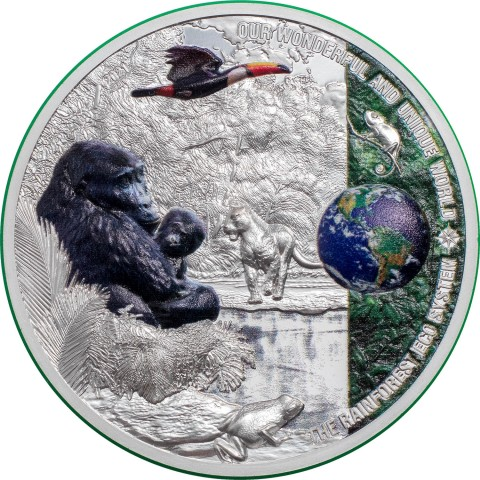 RAINFOREST ECOSYSTEM OUR WONDERFUL EARTH 2 OZ 10 DOLLARS PALAU 2021
