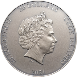 AMATERASU GODS OF THE WORLD 3 OZ 20 DOLLARS COOK ISLANDS 2021