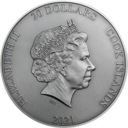 CRONUS TITANS 20 DOLLARS 3 OZ COOK ISLANDS 2021