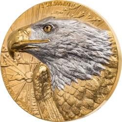EAGLE DE GREEF 1OZ 24K GOLD AND RHODIUM APPLICATION 100 FRANCS CFA IVORY COAST 2021