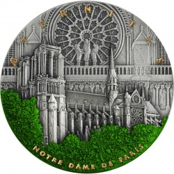 NOTRE DAME CATHEDRAL 2 OZ 5 DOLLARS NIUE 2021