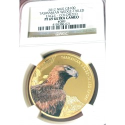 TASMANIAN WEDGE TAILED EAGLE NIUE 2012 1 OZ GOLD NGC PF 69 ULTRA CAMEO