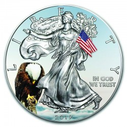 MEMORIAL DAY AMERICAN EAGLE SILVER COIN 1 DOLLAR 1 OZ 2019